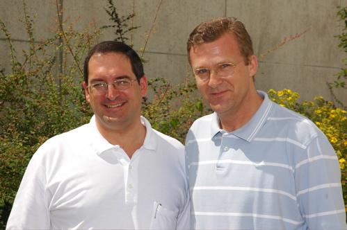 Dr. Jürgen Bubeck und Wolfgang Leonhard